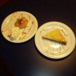 Baklava and Apple Pie desserts with Ice Cream