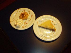 Baklava and Apple Pie desserts with Ice Cream